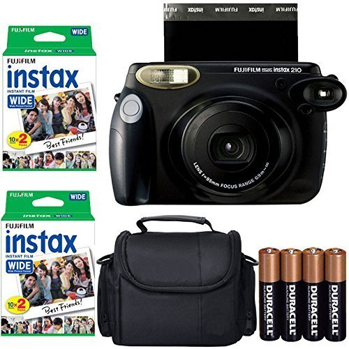 Fujifilm INSTAX 210 Photo Instant Camera With Instax Wide Film Twin Pack 40 Shots Case Photo4less Microfiber