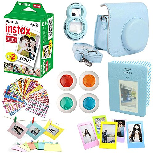 64 Pockets Name Card Pieces for Fujifilm Instax Mini 8 //7s //70//25 //50s //90 Durable Color : Beige