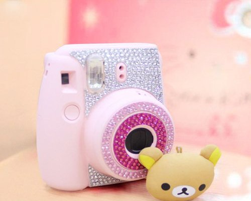Pink Floral Camera Sticker for Fujifilm Instax mini 8